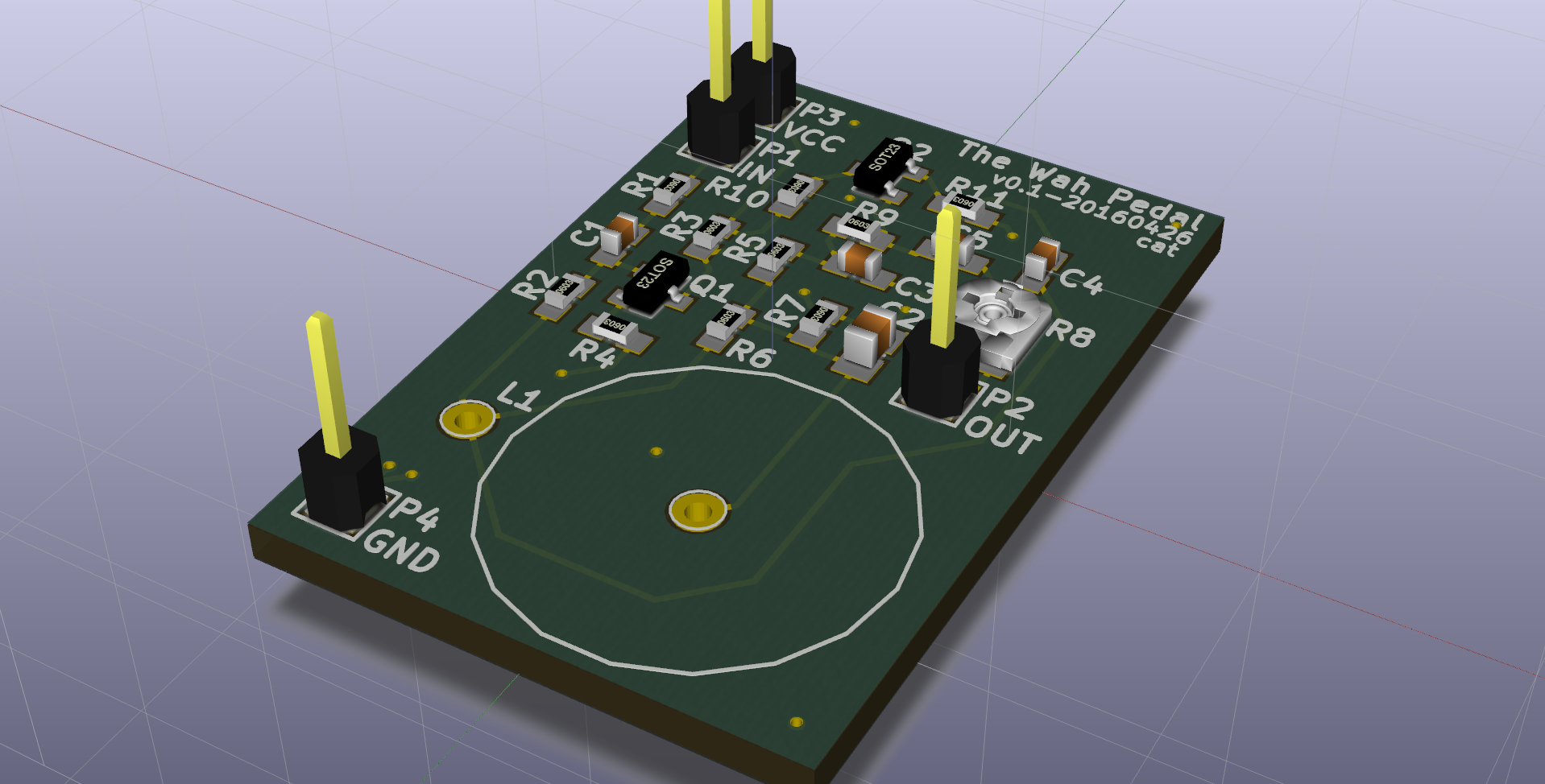 Open Tools For Circuit Design Learning Qucs Kicad And Freecad Wah Pedal 3d View